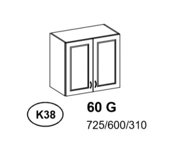 Bianka - Szafka górna 60 cm (k38)