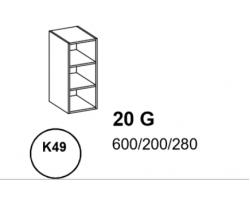 Bianka - Szafka górna 20 cm (k49)