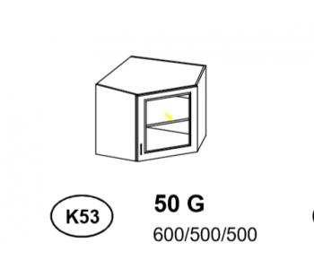 Bianka - Szafka górna narożna (k53)