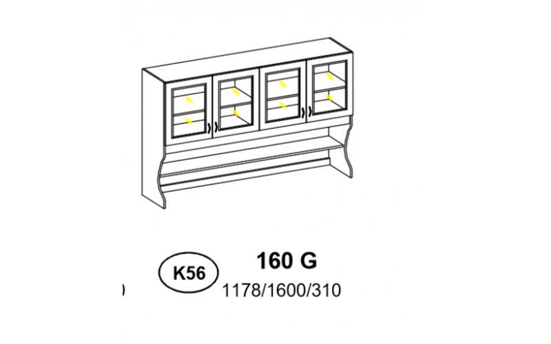 Kredens - Szafka górna 160 cm (k56)