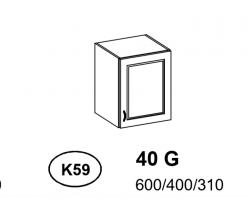 Bianka - Szafka górna 40 cm (k59)