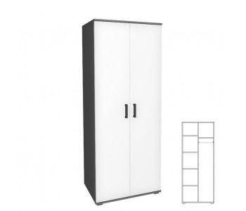 VICTORIA - Szafa 2D z półkami i drążkiem - szerokość 80-100 cm / 12 kolorów